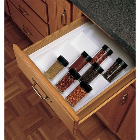 Kitchen Cabinet Inserts Storage Drawer Organizers Cabinet Spice Drawer Insert By Rev A Shelf Cabinet Accessories Unlimited