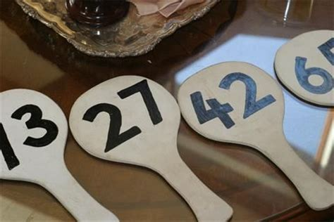 15 Best Images About Auction Paddle Bidder Cards On Pinterest Auction Designer Fans And Diary Of Auction Paddle Number Template