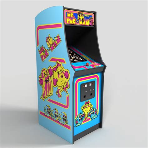 ms pacman arcade cabinet 3d ms pac arcade