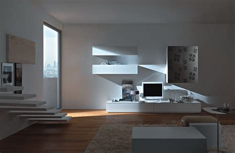 contemporary living modern wall units from momentoitalia