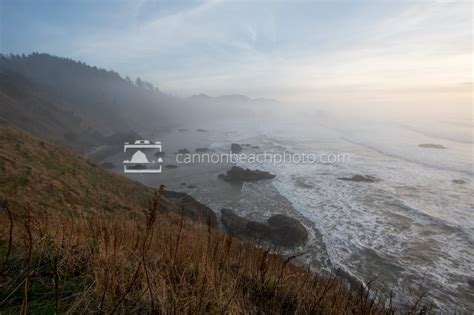 fog view from ecola state park cannon beach photo
