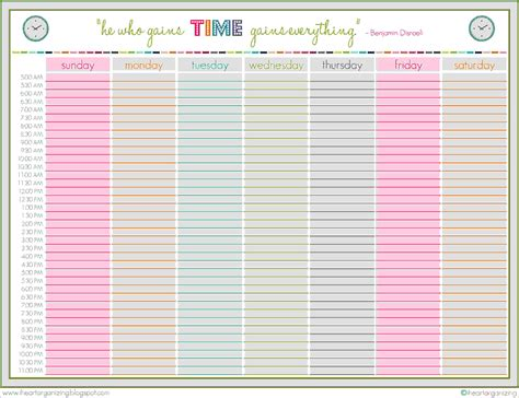 13 printable weekly schedule letter template word