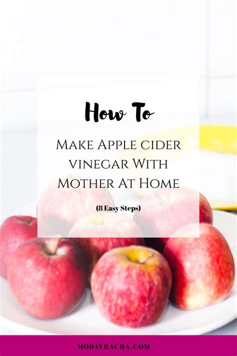 how to make apple cider vinegar at home with the