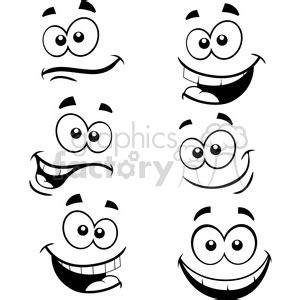 royalty free cartoon faces in vector 392546 vector clip