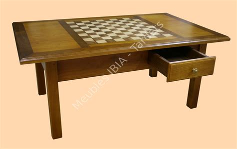 table echiquier marqueterie 171 meubles ibia tardets
