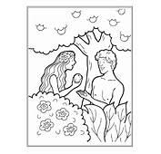 Dibujos Para Colorear De Adan Y Eva En El Paraiso  Imagui