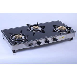 3 burner glass cooktop surya elite gas stove 3 burner glass cooktop buy surya