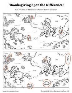 thanksgiving spot the difference tim s printables