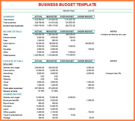 6 sle business budget spreadsheet costs spreadsheet