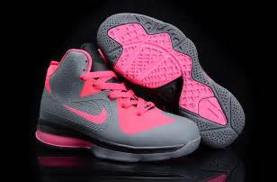 newest lebron shoes new lebron 9 p s basketball shoes grey pink
