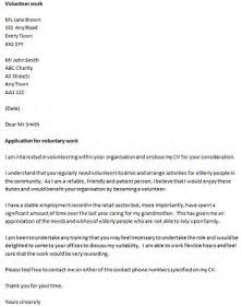 Cover Letter To Volunteer by Volunteer Covering Letter Exle Icover Org Uk