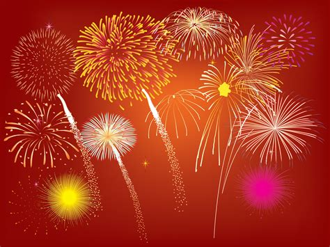 new year texture vector fireworks design powerpoint templates