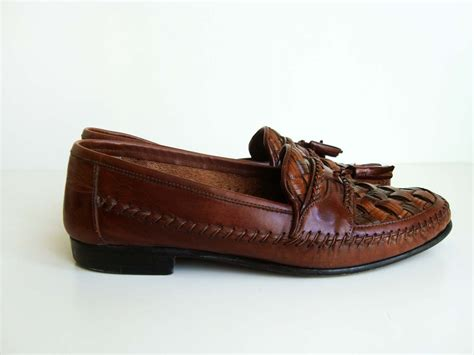 brutini loafers giorgio brutini le glove woven leather loafers with tassels