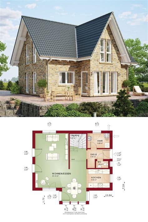moderne fassade 5284 haus evolution 122 v8 grundriss erdgeschoss wohnhaus bien