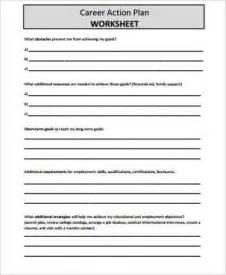 career pathway planning worksheet 8 sle career plan free sle exle format