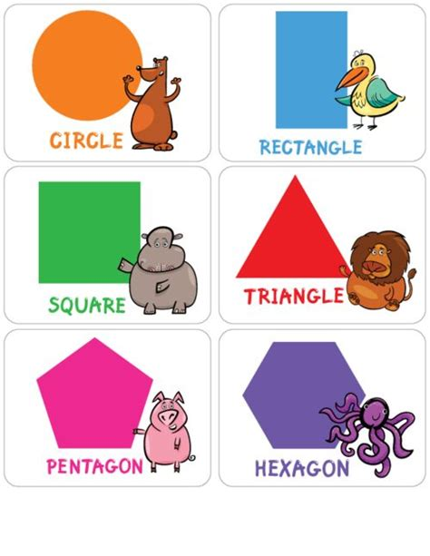 free printable learning shapes learning shapes flashcards 1 shape creative and learning