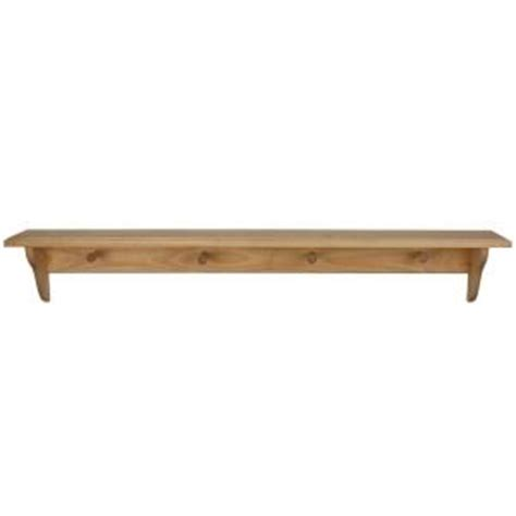 Shelf Pegs Home Depot by Houseworks 46 In X 5 1 4 In Unfinished Wood Decor Shelf With Pegs 94617 The Home Depot