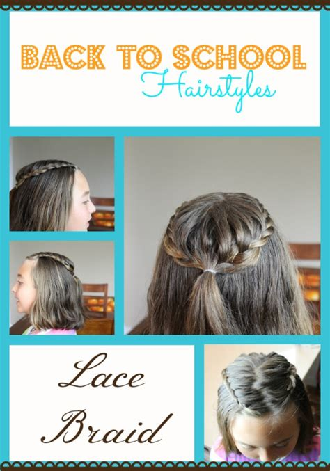 diy back to school hairstyles for medium hair back to school hairstyles lace braid
