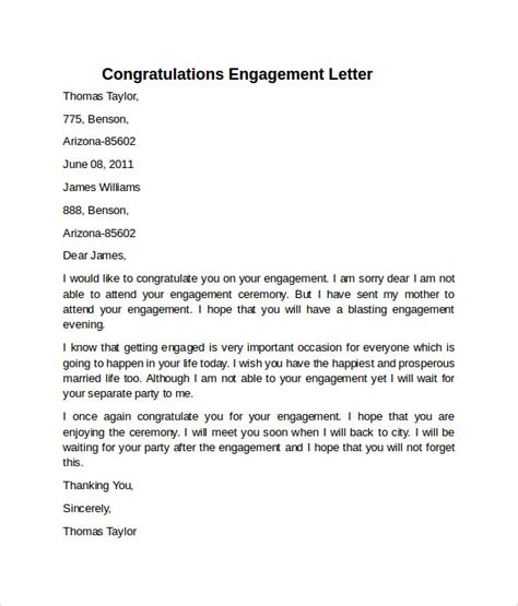 28 engagement letter sle in word sle