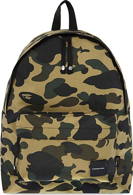 Bathing Ape Sling Bag Camo a bathing ape camo print cordura 174 backpack in for