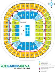 Rod Laver Floor Plan by Rod Laver Arena Seating Map Austadiums