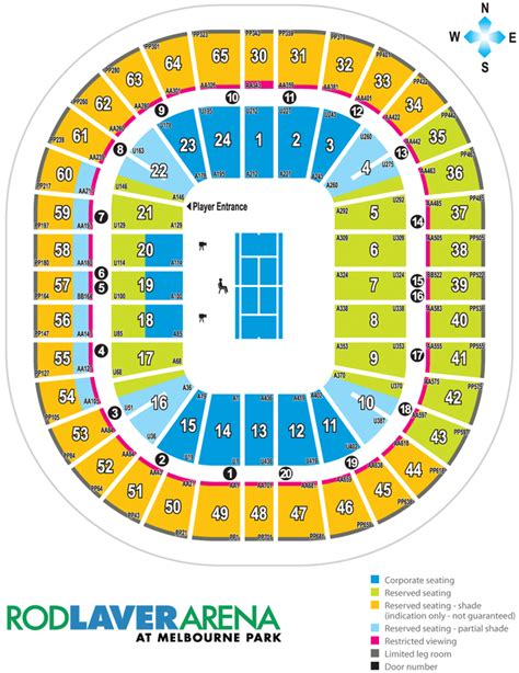 rod laver floor plan 2 australian open tennis tickets men s final federer nadal