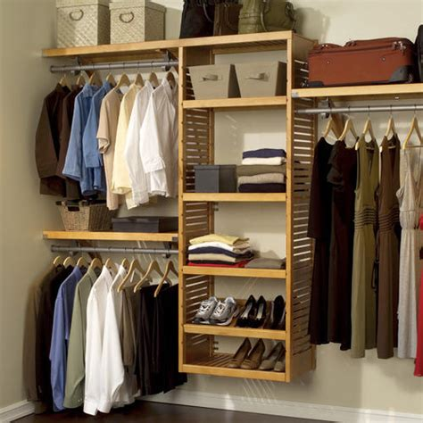 Closet Accessories 16in Deluxe Closet System Honey Maple At Menards 174