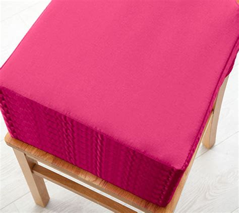 pink kitchen chair cushions pink 8 pack seat pad cushions velcro fastening dining