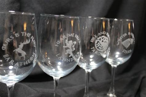 game of thrones wine glasses game of thrones wine glass set of 2 game of thrones