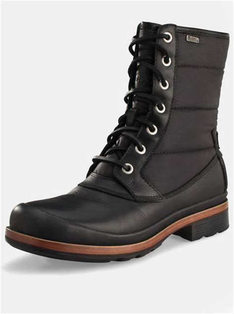 ugg ugg australia hamric mens boots in black for lyst