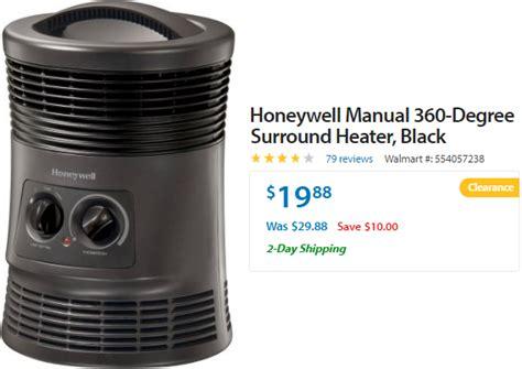 walmart honeywell  degree surround heater