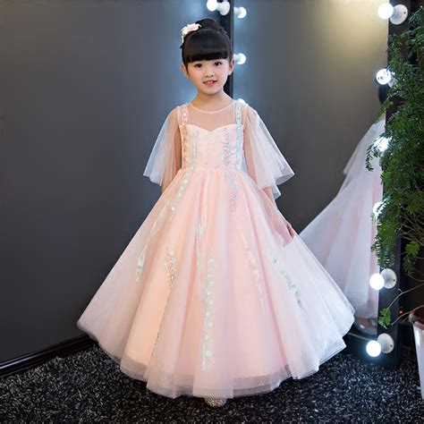Fr Dress Giovany Kid Dress Anak 2017 new european children summer pink lace dress sweet luxury birthday