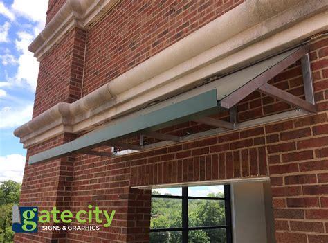 awnings greensboro nc metal awnings gate city signs graphics