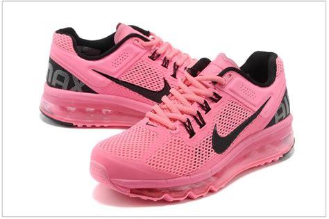 womens nike air max 2013 pink black running shoes 555363