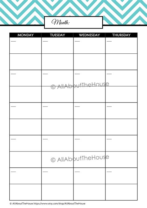 printable monthly student planner chevron student planner editable all about planners