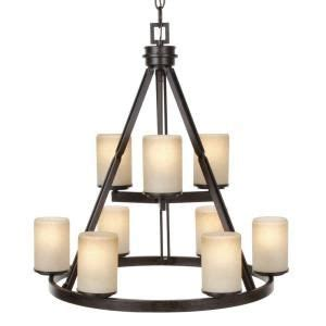 hton bay alta loma chandelier hton bay alta loma 9 light ridge bronze chandelier