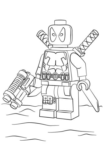 free coloring pages lego superheroes lego deadpool coloring page free printable coloring pages