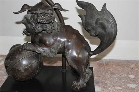 foo dog table l pair of james mont bronze foo dog tables with ebony tops