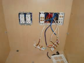 home theater wall plate install inside cabinet in san jose ca mw home entertainment wiring