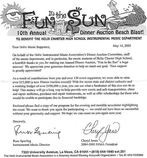 Letter For A School Event San Diego Golf San Diego Golf Charity Golf Tournaments Charity Events In San Diego