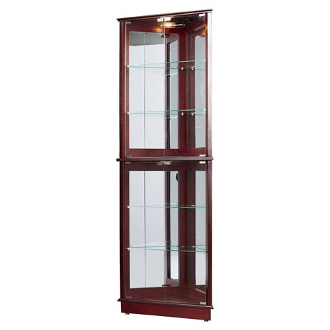 lighted corner curio cabinet lighted corner curio cabinet glass the clayton design