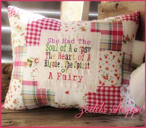 Shabby Chic Patchwork - shabby chic patchwork embroidered cushion decorative