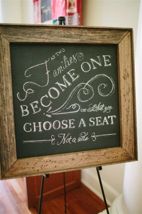 Wedding Quotes A Seat Not A Side by Any Seat Not A Side Sign For Ceremony Help Me Find