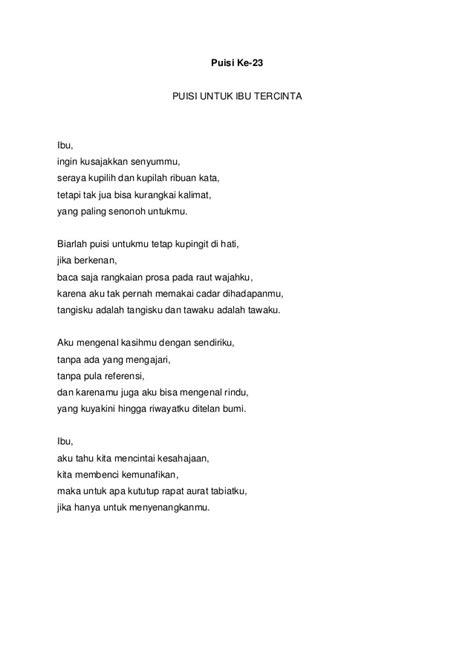 Jelita Senandung Hidup Kumpulan Puisi kumpulan 30 puisi tentang wanita