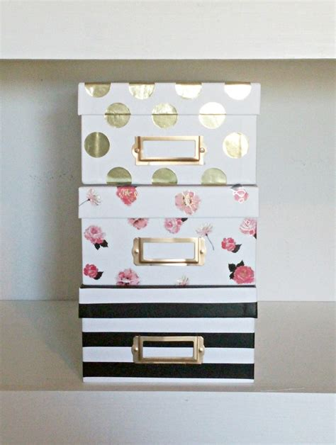 cute and easy to make diy storage boxes decozilla easy kate spade inspired storage boxes an exercise in