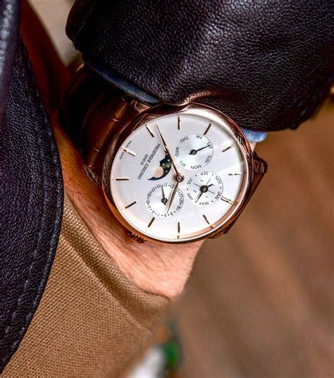 Rolex Cellini Ab Leather Black Silver fr 233 d 233 rique constant slimline perpetual calendar