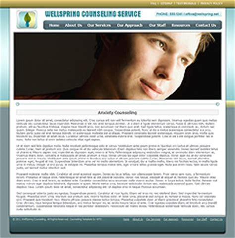 Counseling Web Template 287 Complete Counseling Therapy Website Counselling Websites Templates