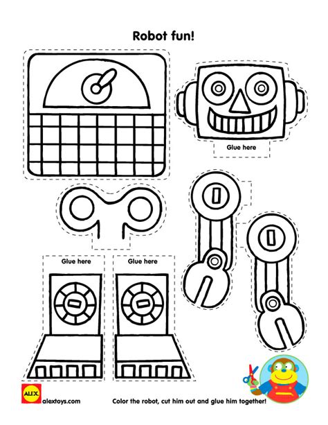 printable arts and crafts projects let s talk robots plus free robot printable alexbrands