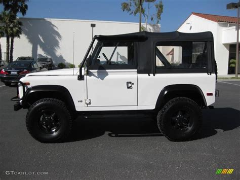white land rover defender 90 1997 alpine white land rover defender 90 top 9187409