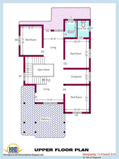 square house floor plans 2318 square home plan and elevation kerala home